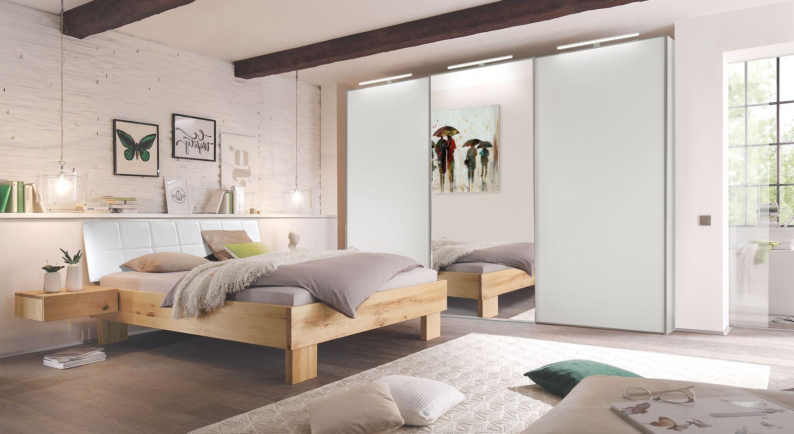Schlafzimmer komplett günstig massive Wildbuche - Nemea