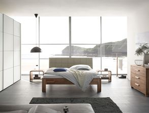 Komplett Schlafzimmer Pello Mit Dekor Und Nussbaum Möbeln