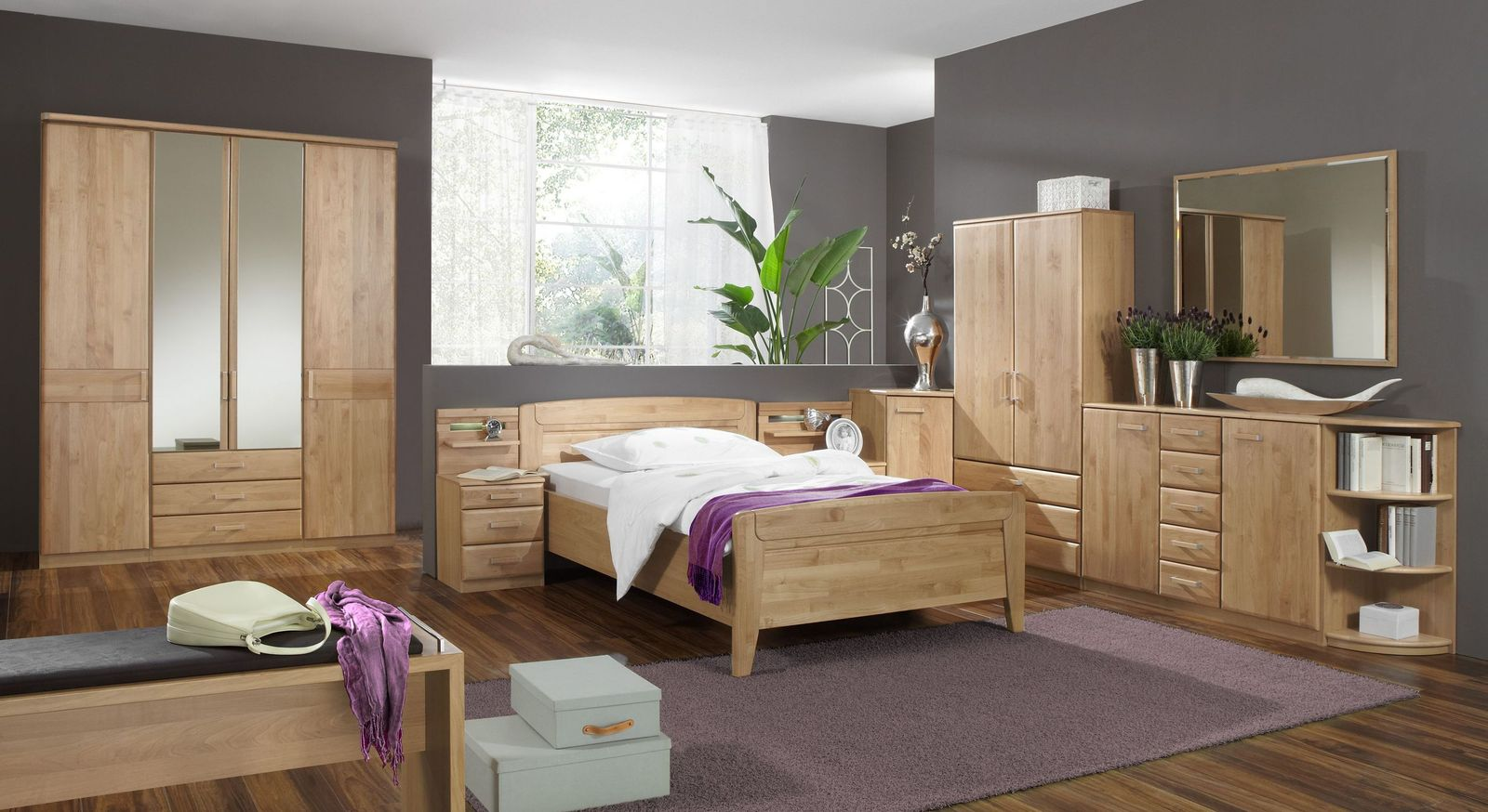 schlafzimmer erle mit seniorenbett in komforth he sanando. Black Bedroom Furniture Sets. Home Design Ideas