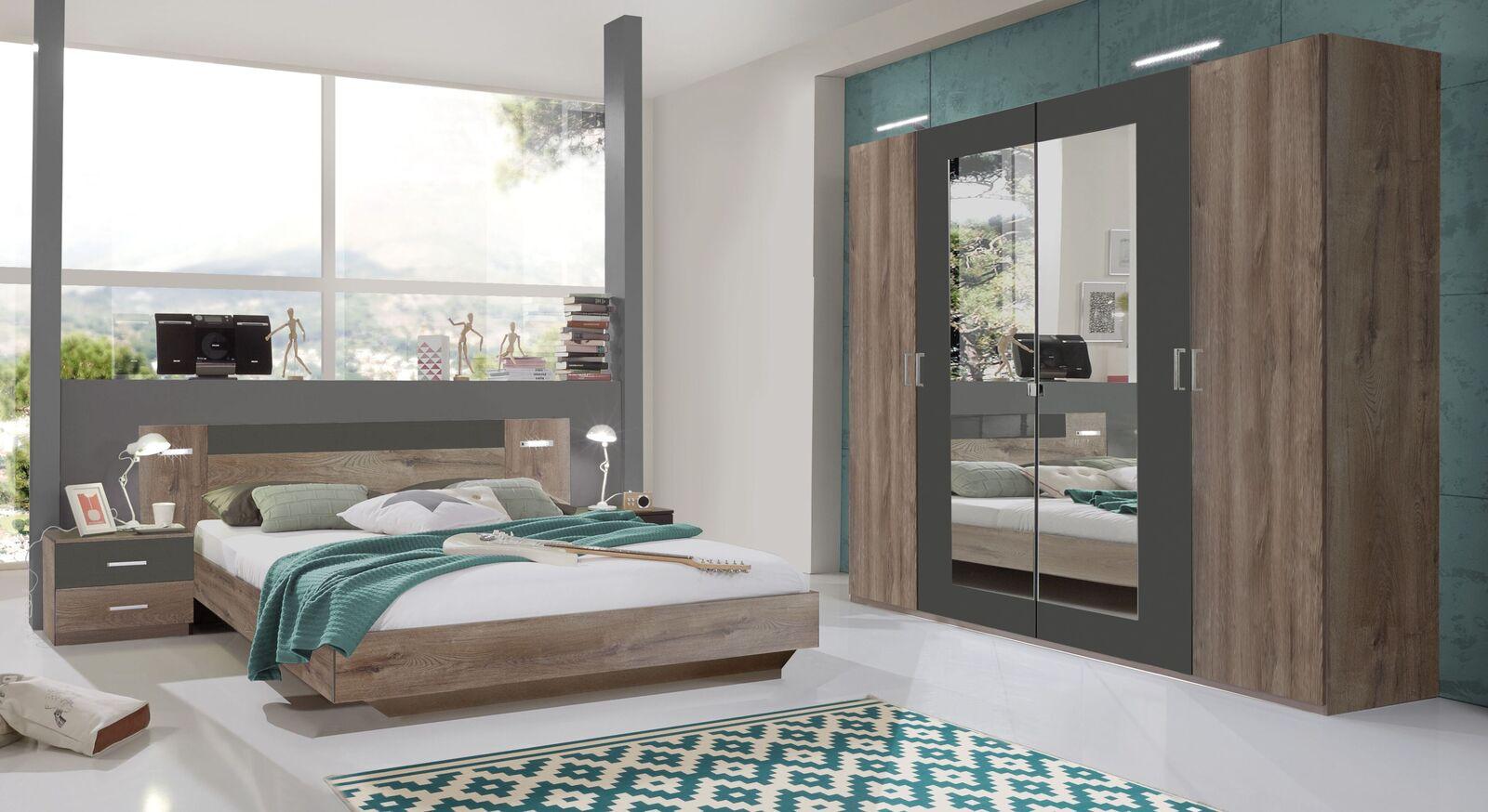 Komplett-Schlafzimmer Sontra in Schlammeiche Dekor