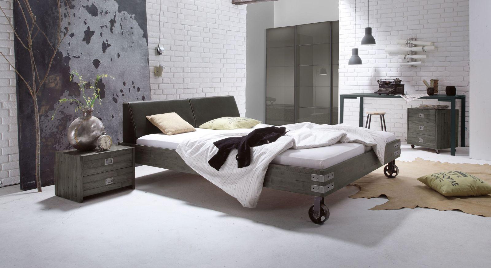 Komplett-Schlafzimmer Tornio im Industrial Style