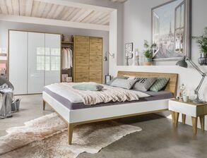 Edles Komplett Schlafzimmer Vacallo Aus Wildeichenholz Bicolor