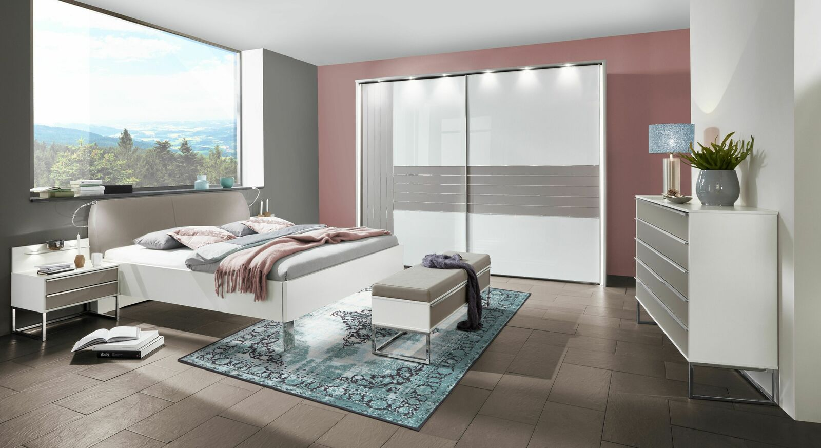 Komplett-Schlafzimmer Waterbury im innovativem Design