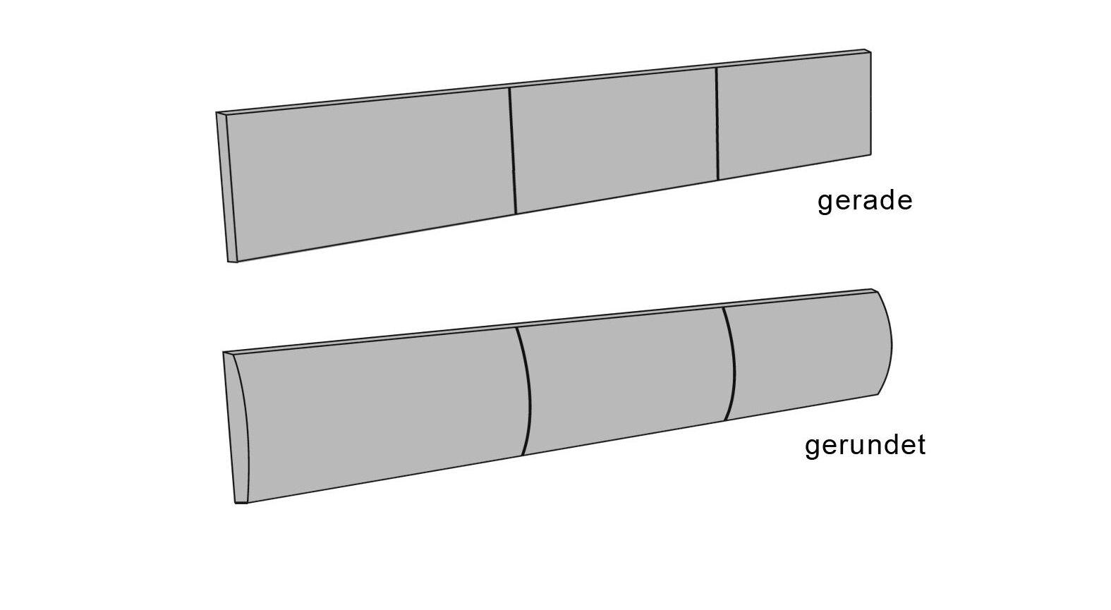 Bequemes Kopfteilpolster Arezzo in zwei Varianten