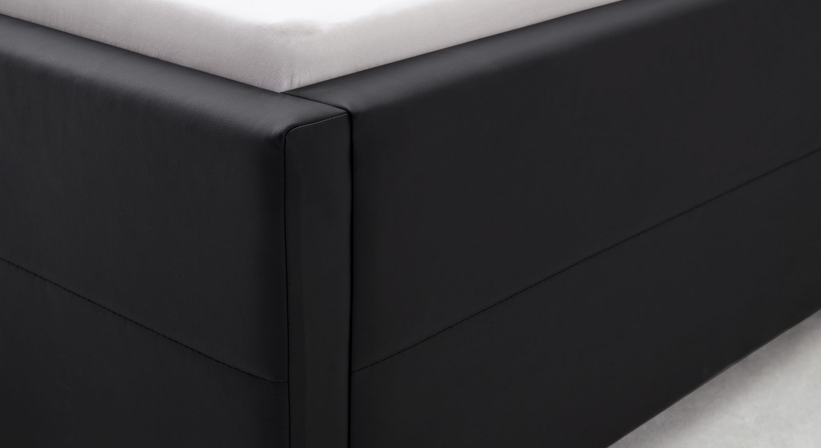 Polsterbett 180x200 cm mit Lattenrost und Bettkasten - Pattani