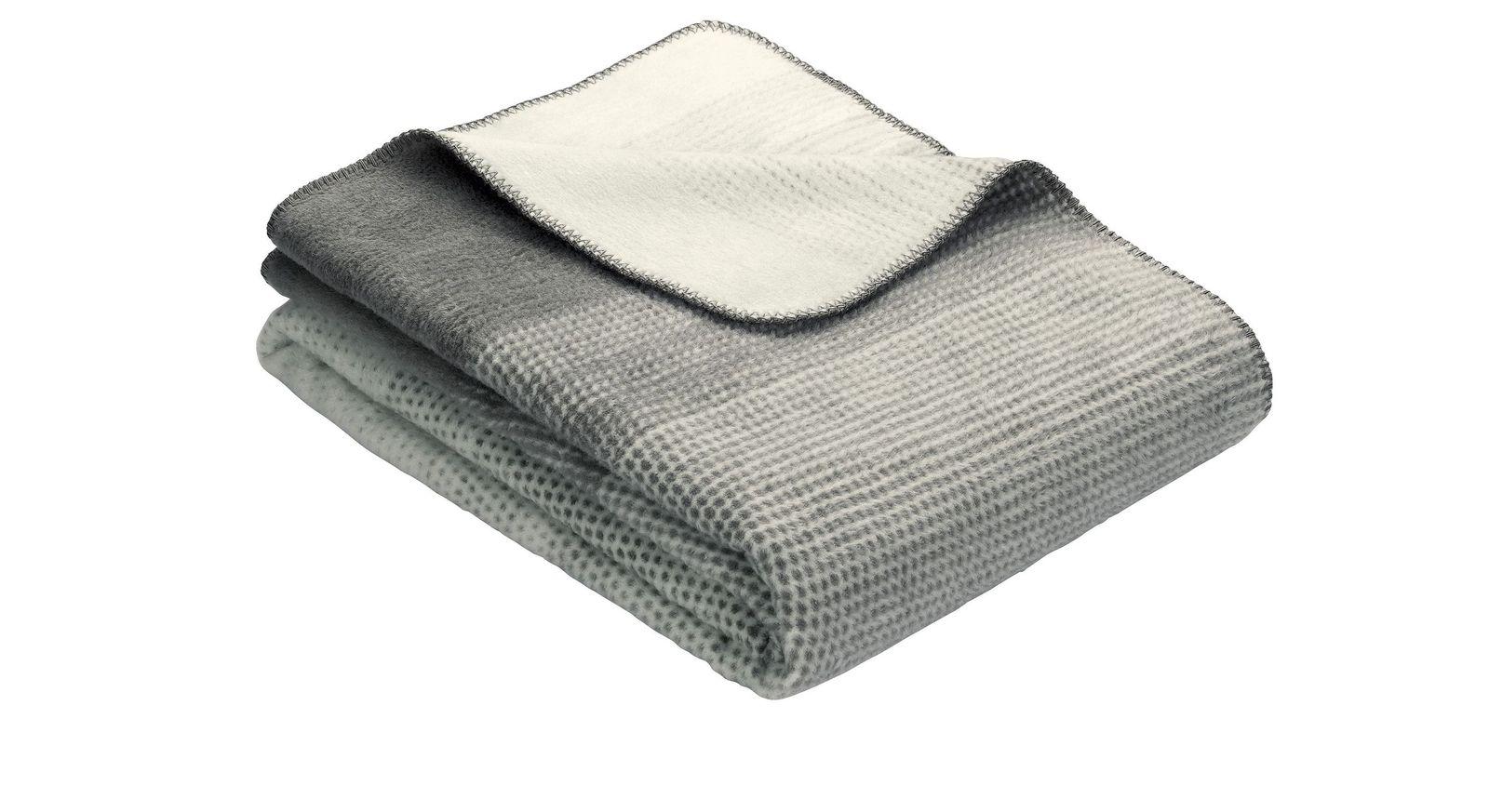 Gemütliche Kuscheldecke Gradient in Grau