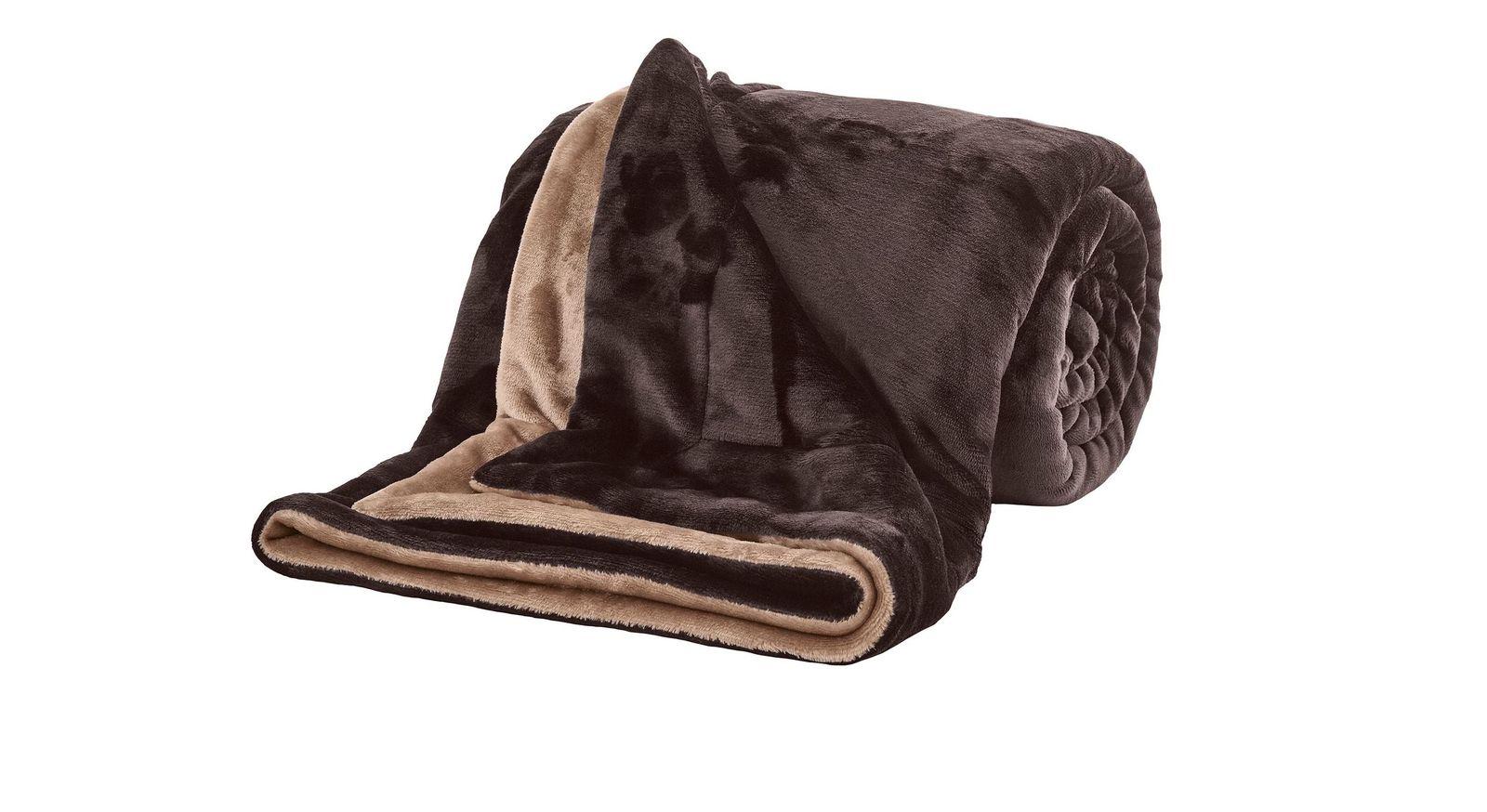 Flauschige Kuscheldecke Cosy-Soft in Braun