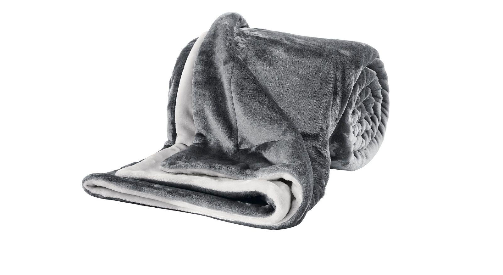 Weiche Kuscheldecke Cosy-Soft in Grau