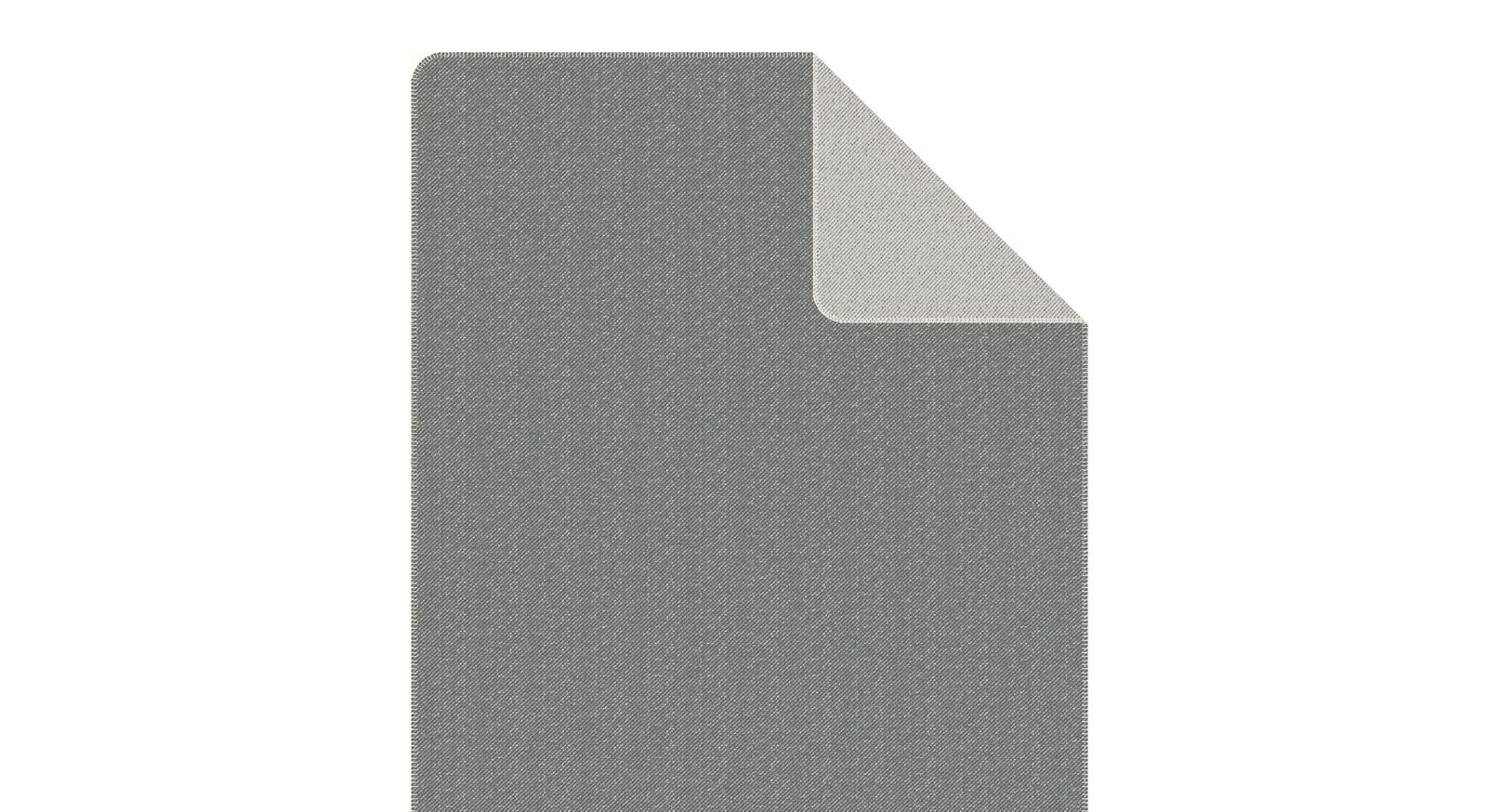 Schlichte Kuscheldecke s.Oliver Stitch in Grau