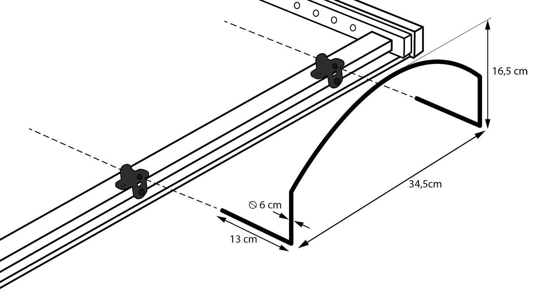 Anbringung des Matratzenbügels am Lattenrost orthowell liftflex motor