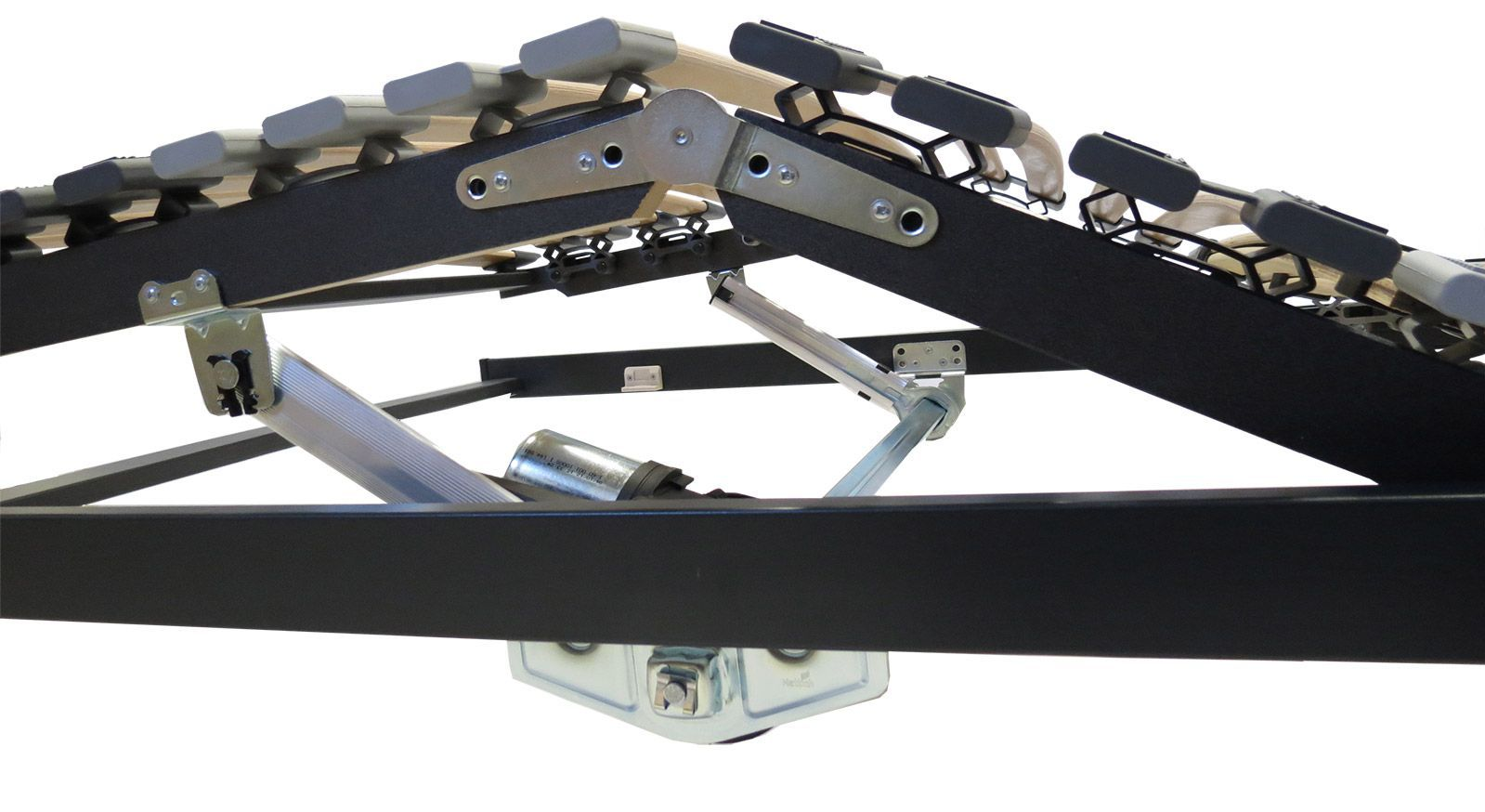 Detail des Lattenrostes orthowell ultraflex XL mit Motor