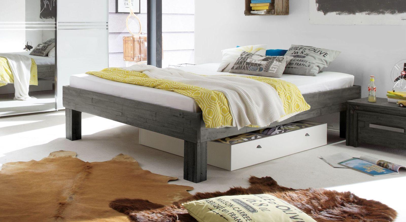 Komfortable Liege Caldera in Grau mit 25 cm hohen Füßen