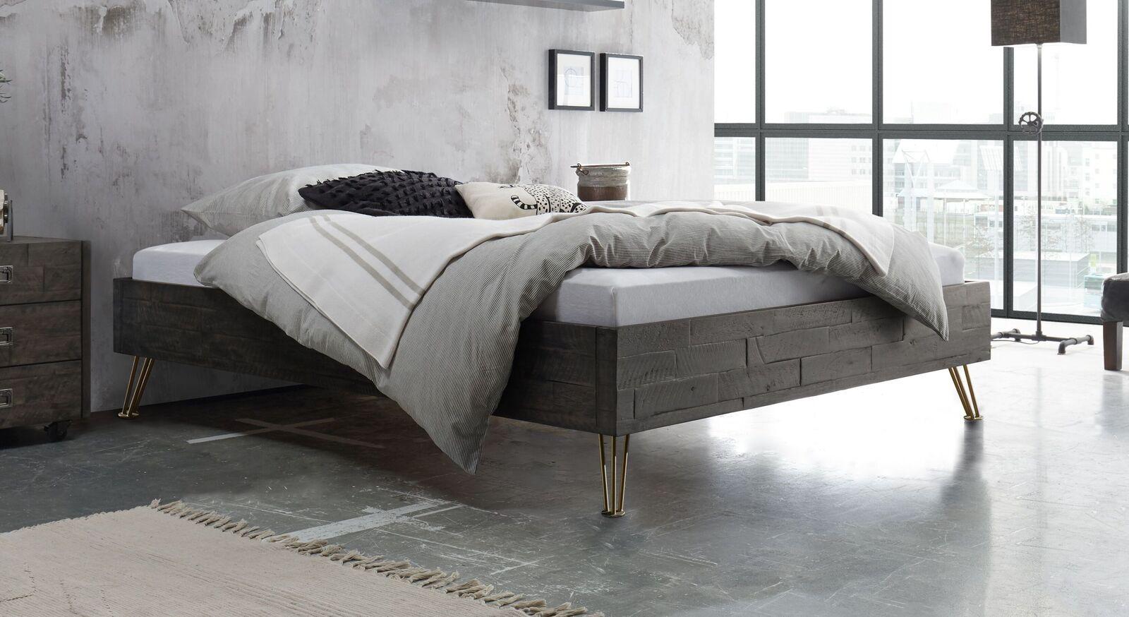 Moderne Liege Domenico aus grauem Akazienholz