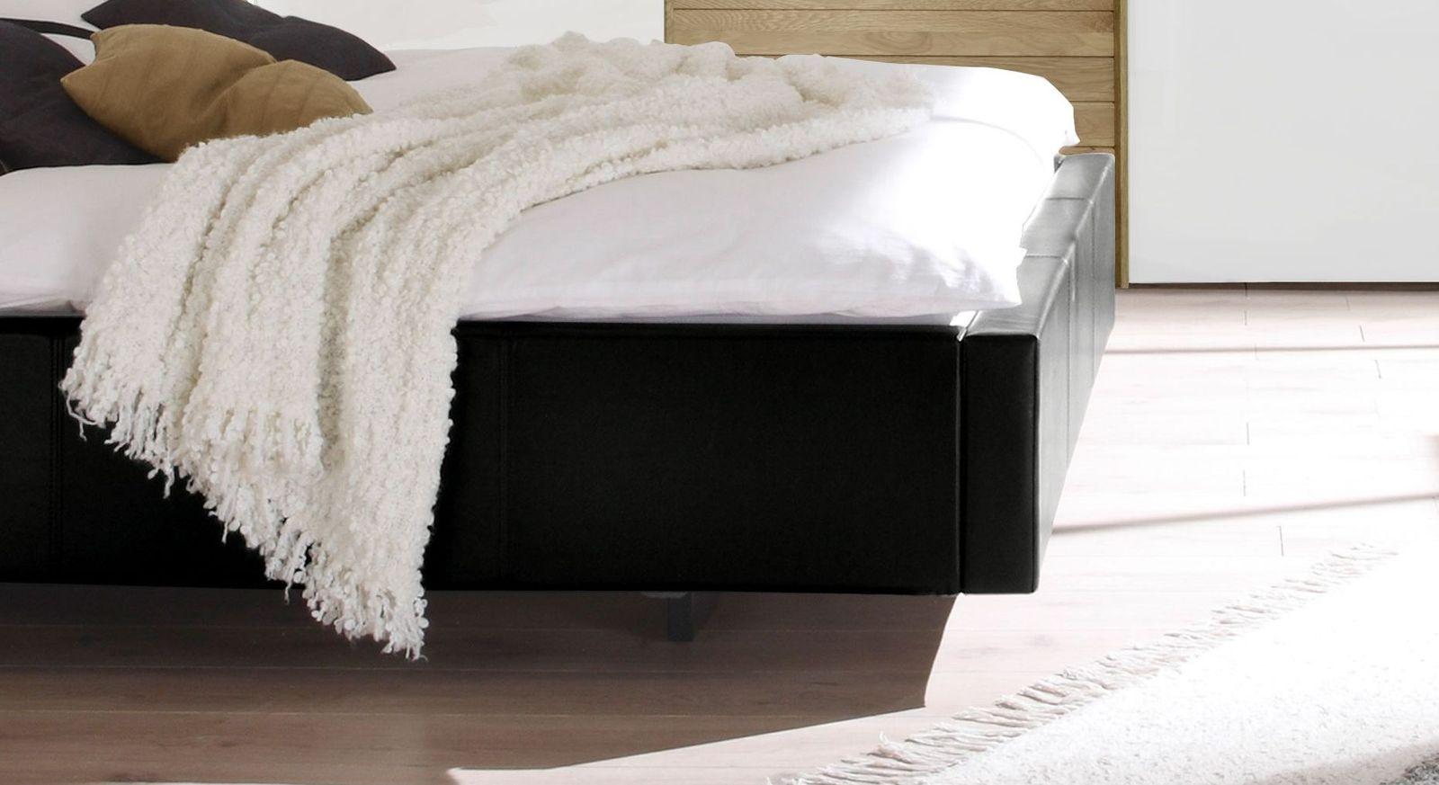 modernes polsterbett ohne kopfteil in schwebeoptik gordon. Black Bedroom Furniture Sets. Home Design Ideas