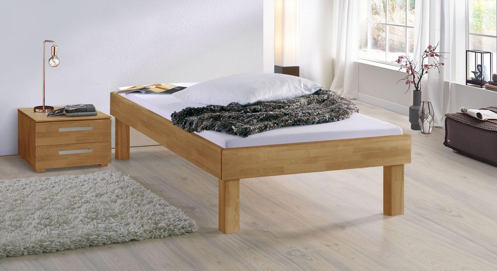 Buchen-Liege Madrid Komfort mit 30 cm Fußhöhe