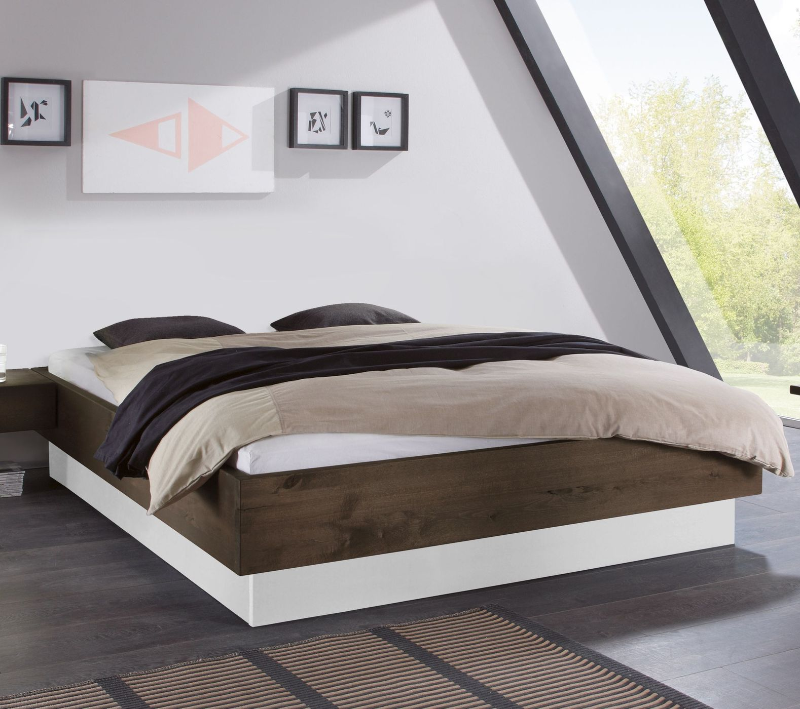 stauraum liege aus wildbuchenholz inklusive lattenrost patea. Black Bedroom Furniture Sets. Home Design Ideas