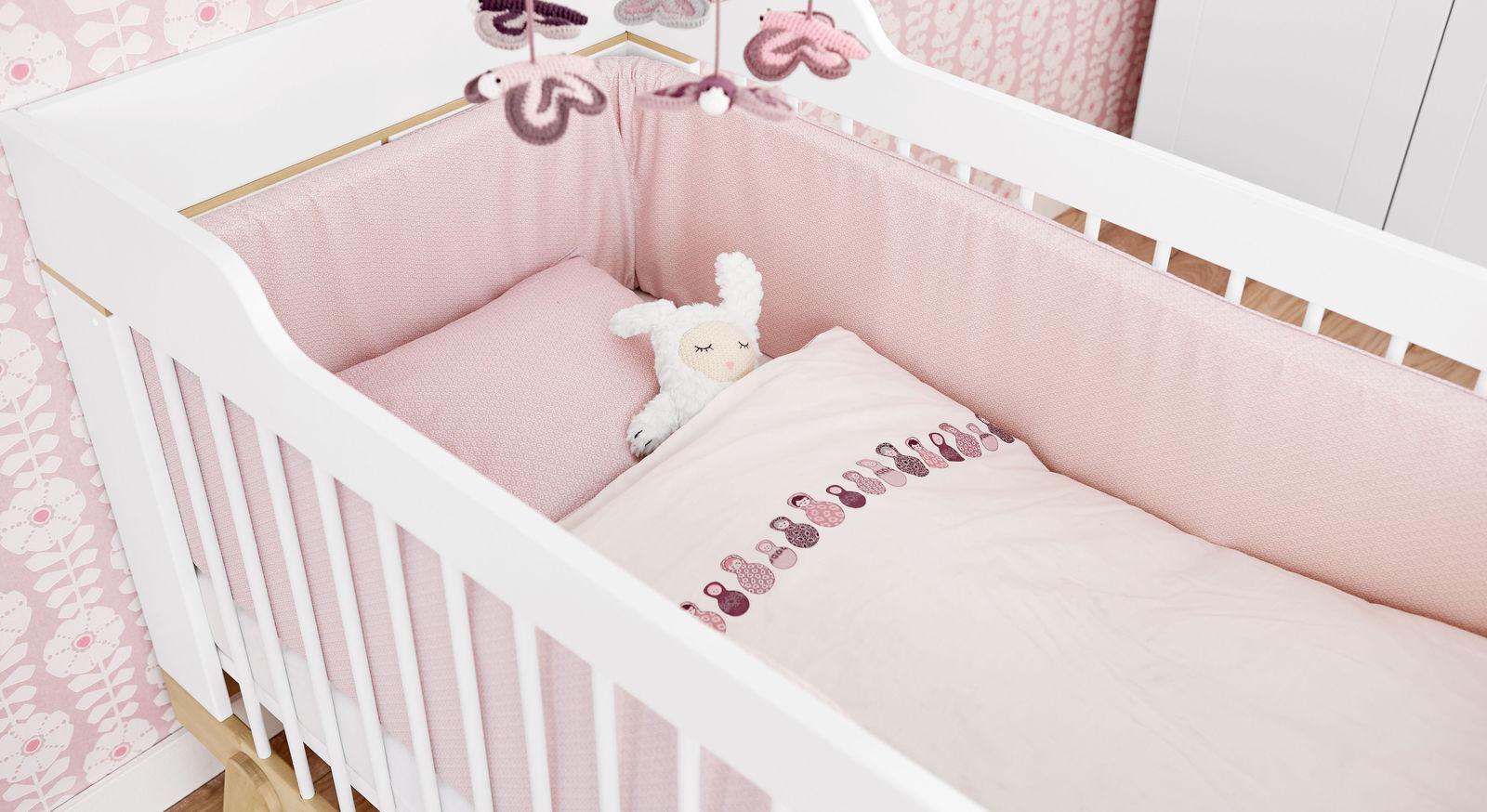 LIFETIME Babybett Monina optional mit Bettwäsche und Nestchen