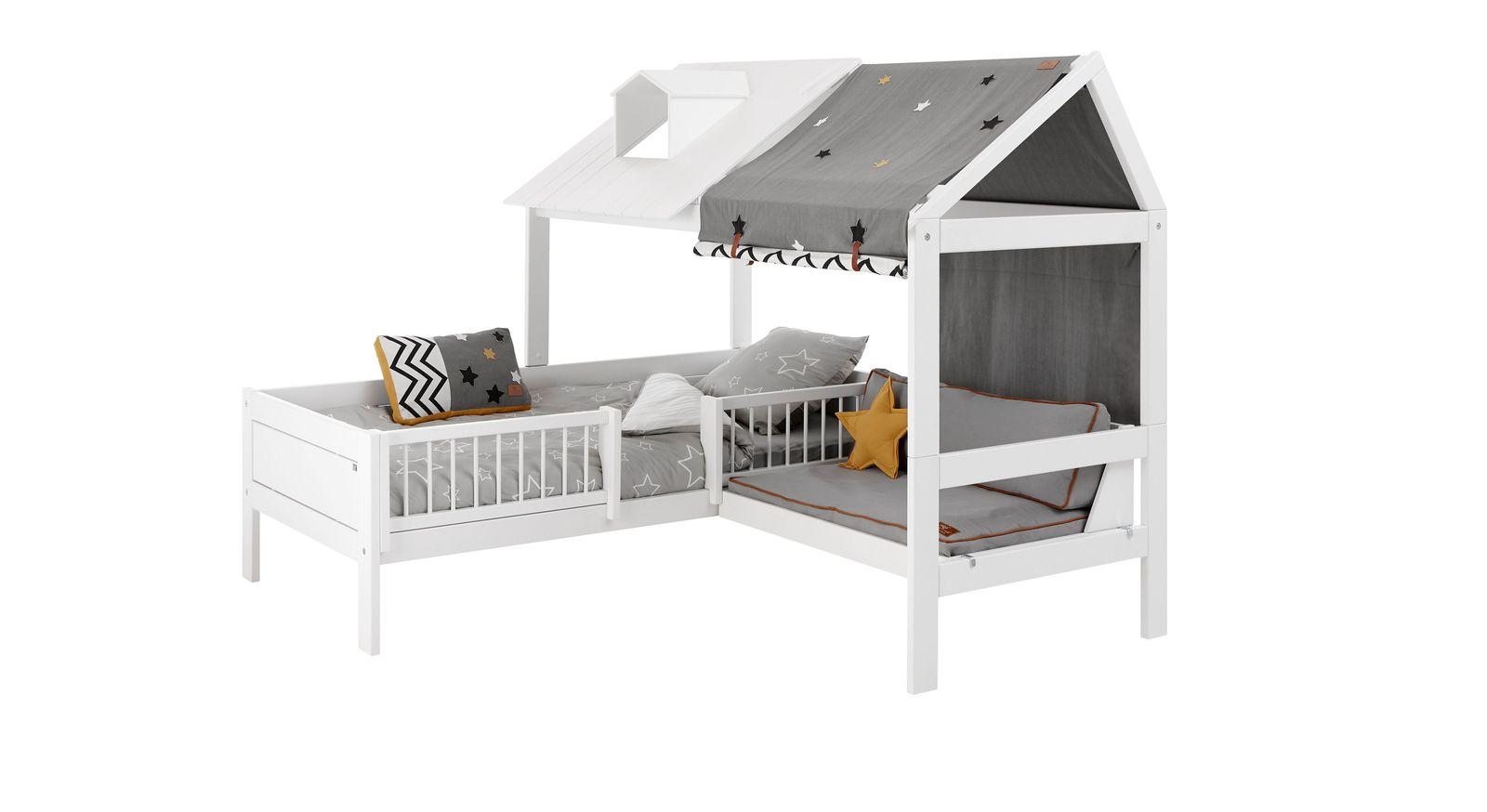 LIFETIME Bett & Sofa Ferienhaus mit Dach in halber Breite