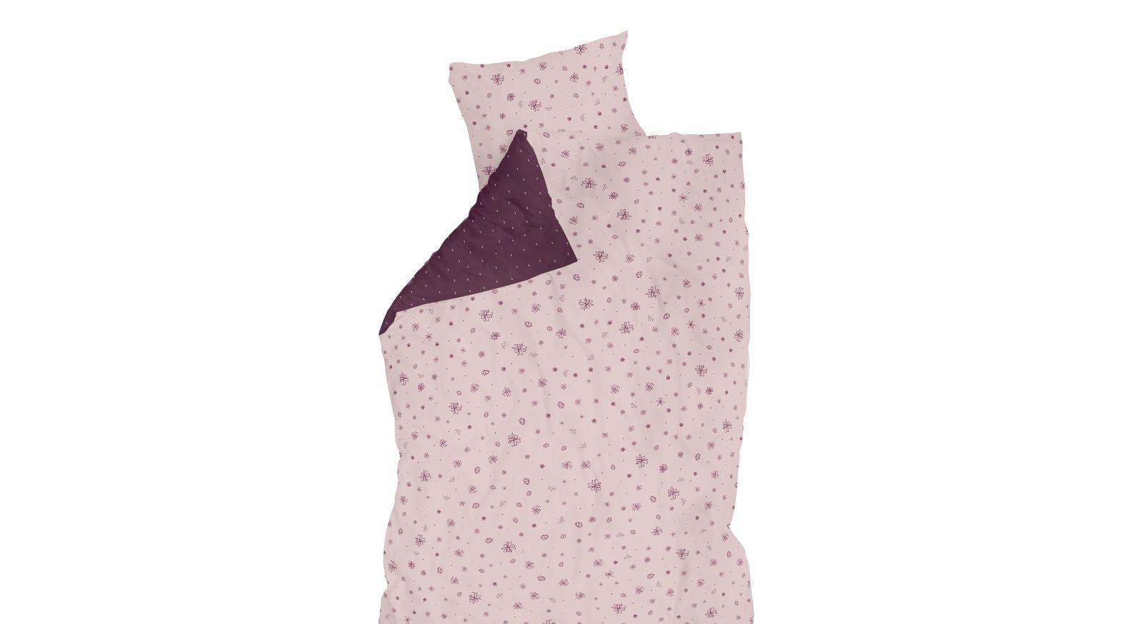 LIFETIME Bettwäsche Blümchen in Rosa und Lila