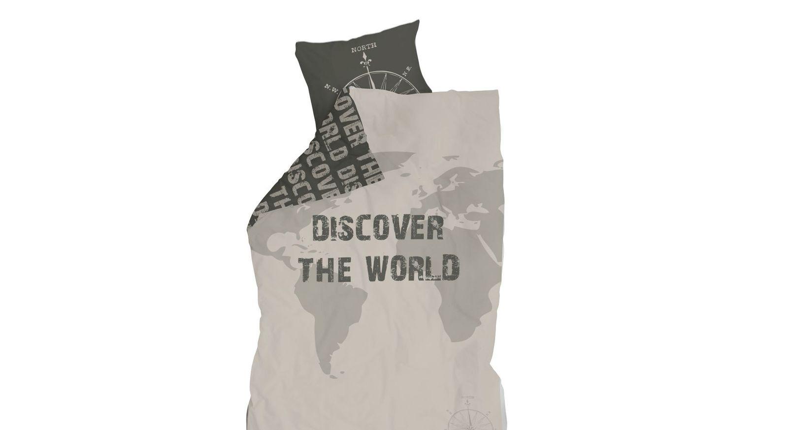 LIFETIME Bettwäsche Survival mit Weltkarte-Design