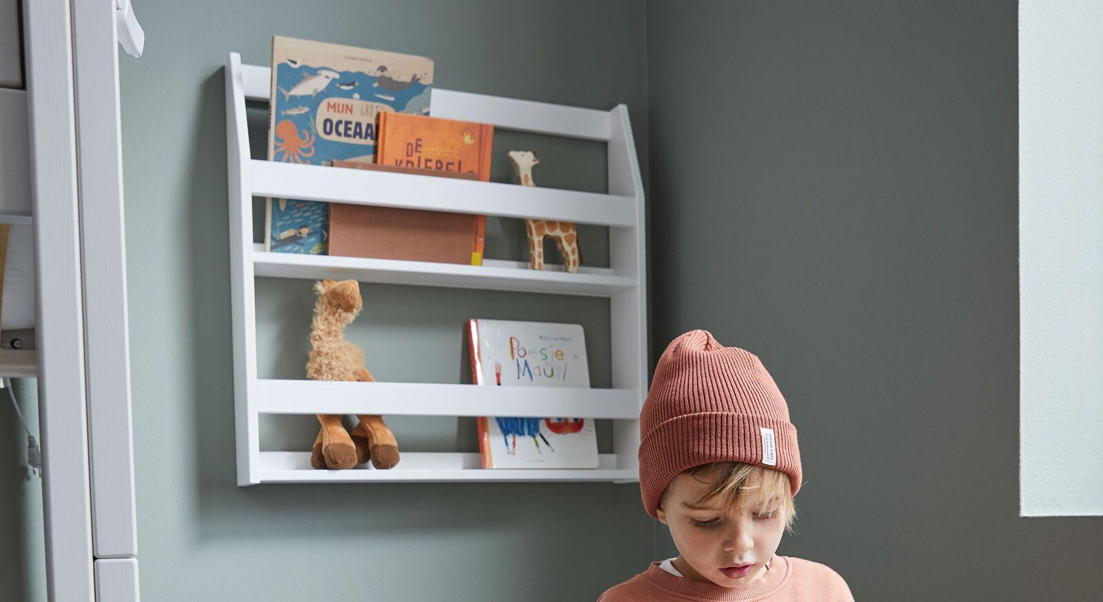 Stabiles LIFETIME Bücher-Hängeregal Original aus Echtholz
