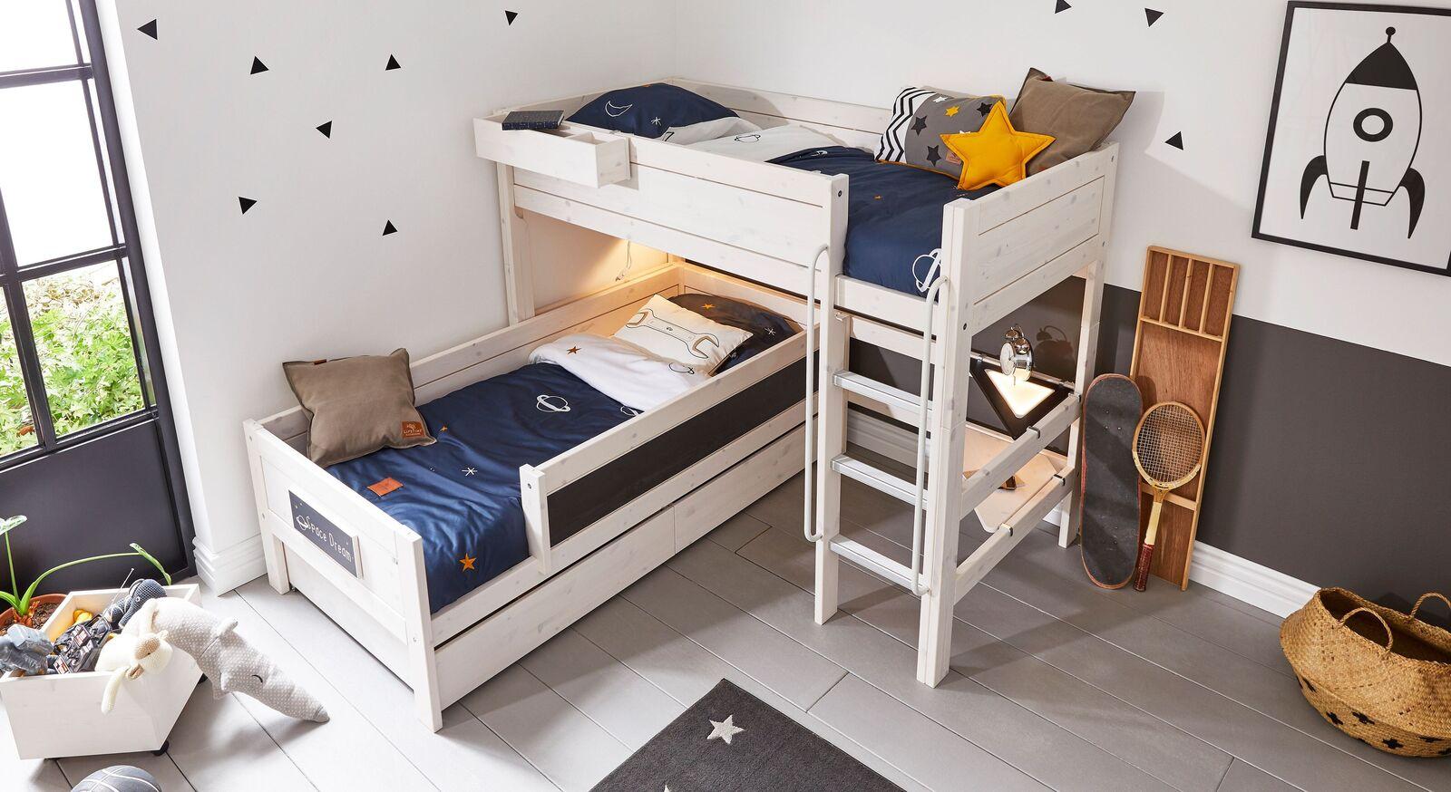 LIFETIME Eck-Etagenbett Original mit 2 Schlafplätzen