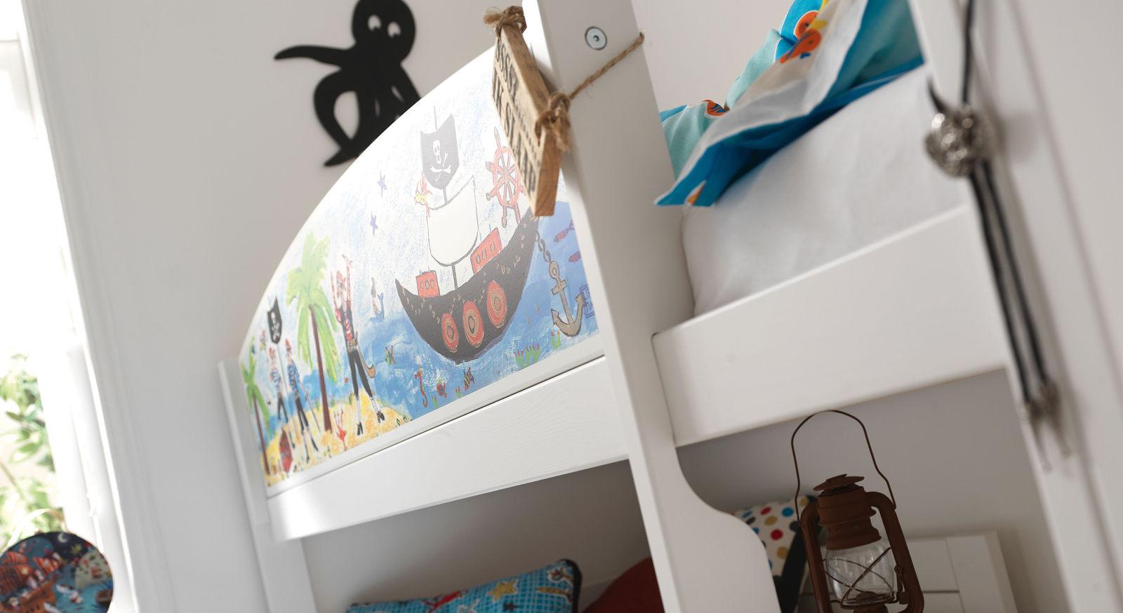 LIFETIME Eck-Etagenbett Pirat mit praktischer Leiter zum Einstieg
