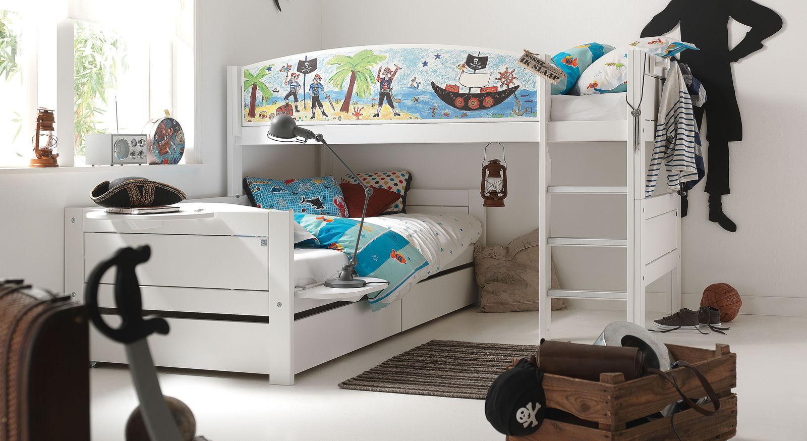 LIFETIME Eck-Etagenbett umbaubar zu zwei Einzelbetten - Pirat