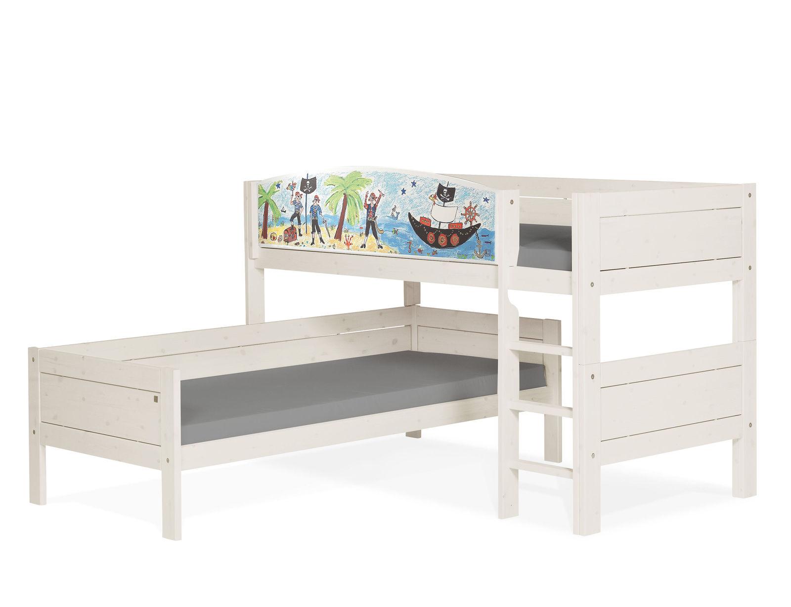 lifetime eck etagenbett umbaubar zu zwei einzelbetten pirat. Black Bedroom Furniture Sets. Home Design Ideas