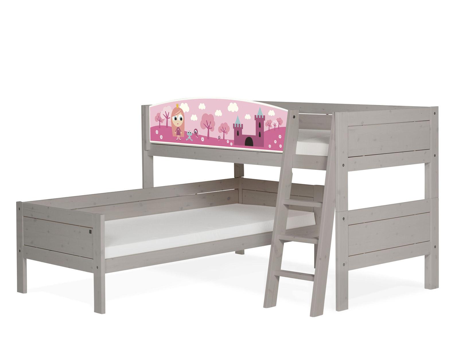 lifetime doppelstockbett ber eck f r m dchen prinzessin. Black Bedroom Furniture Sets. Home Design Ideas