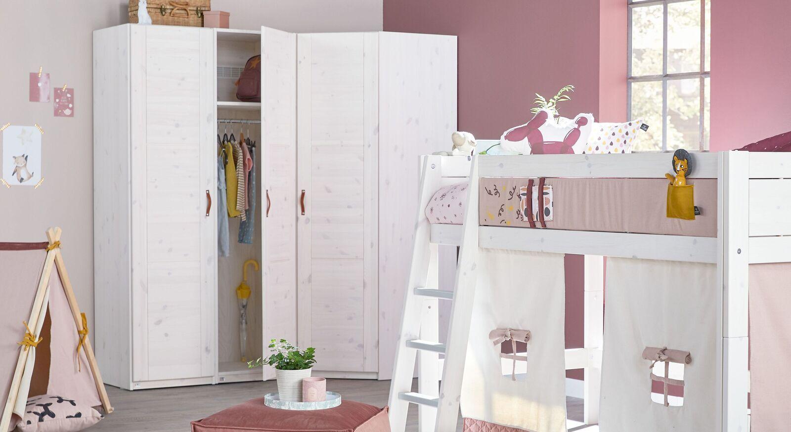 LIFETIME Eck-Kleiderschrank Original für Kinderzimmer