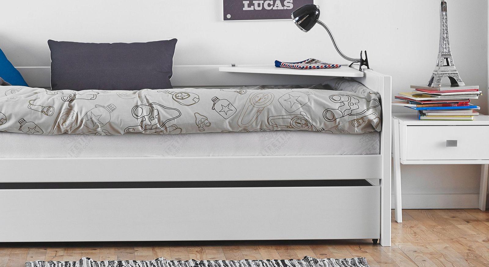 LIFETIME Eckablage Original mit einfacher Montage am Bett
