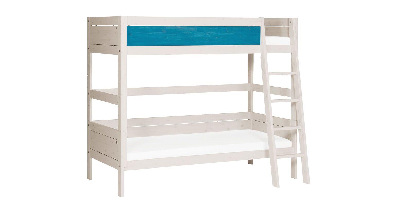 Stabiles LIFETIME Etagenbett Color mit schräger Leiter