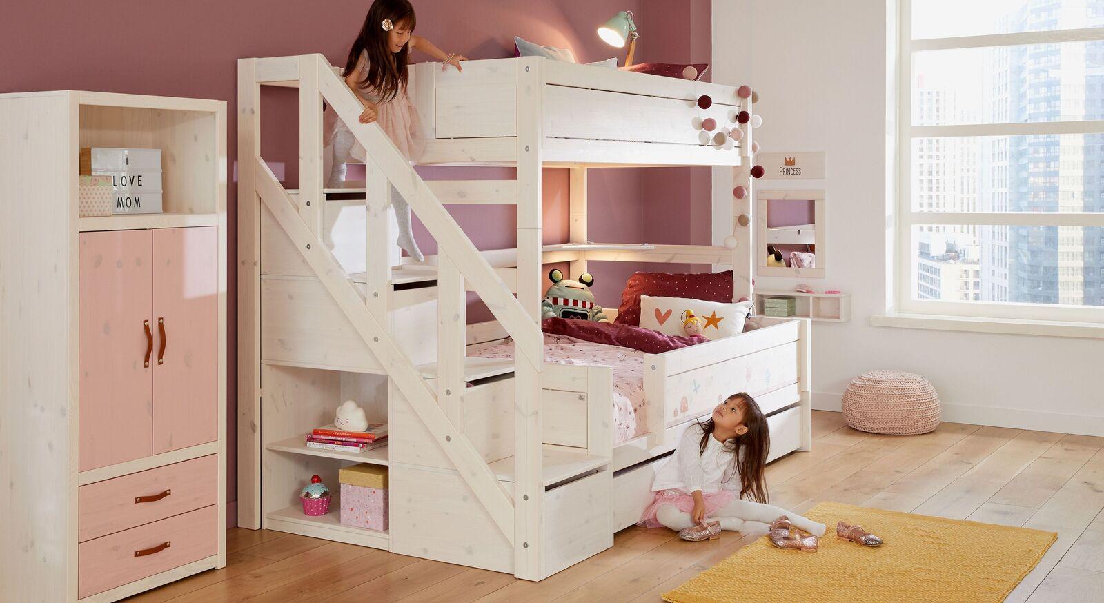 Praktisches LIFETIME Familienbett Original mit Treppenmodul