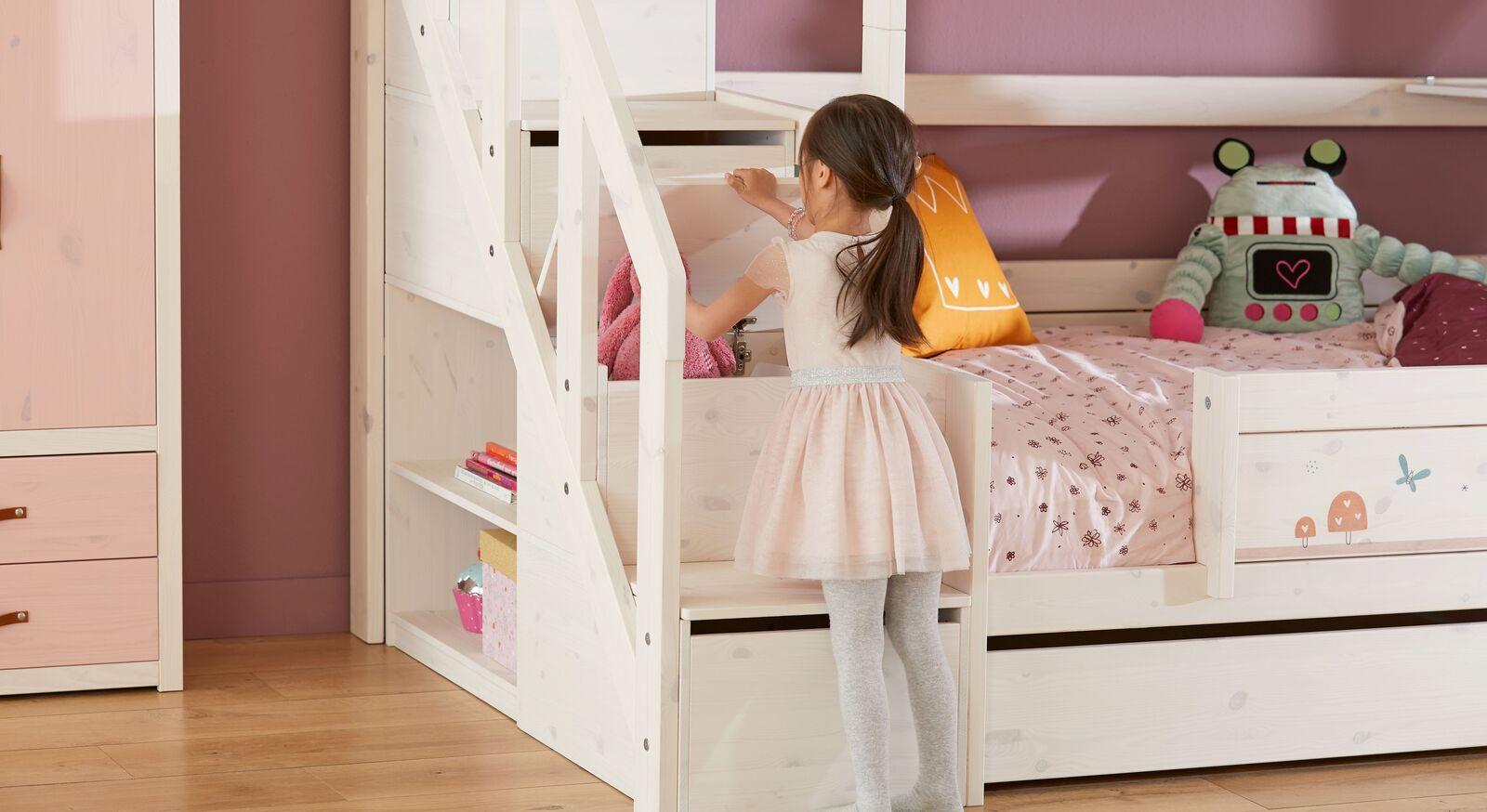 LIFETIME Familienbett Original mit Treppenmodul und integriertem Stauraum