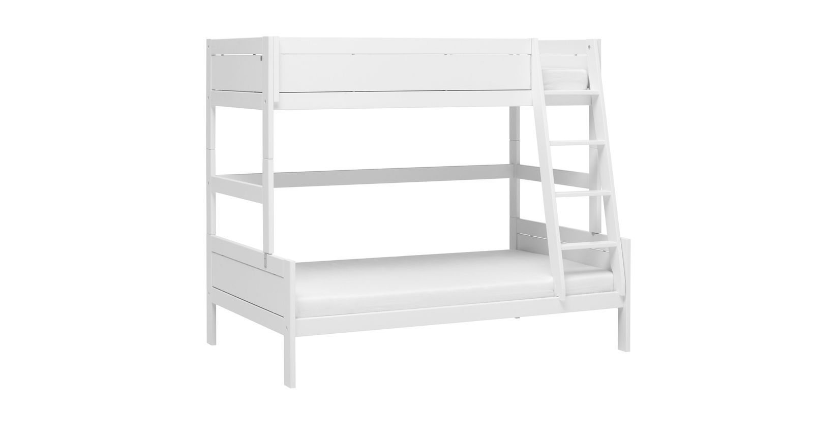 LIFETIME Familienbett Original aus weiß lackiertem Holz