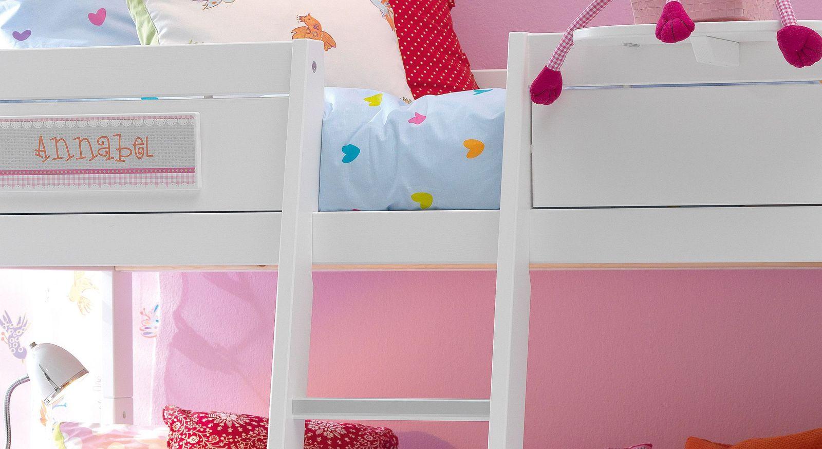 LIFETIME Kiefer-Himmelbett für Kinder mit Baldachin - Little Bird