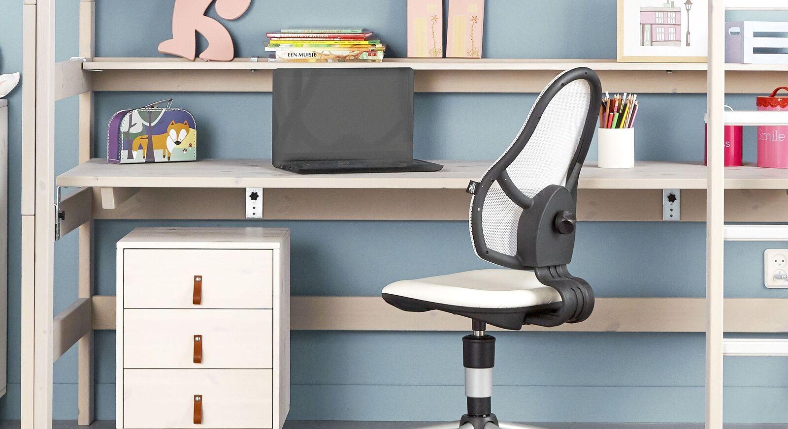 LIFETIME Hochbett Schreibtischplatte mit geräumiger Ablagefläche
