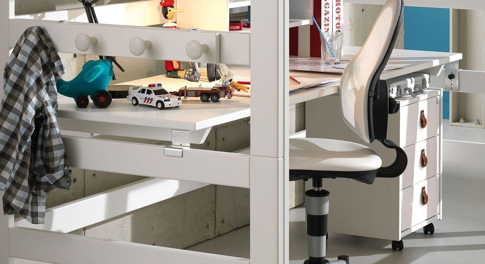 Praktische LIFETIME Hochbett Schreibtischplatte fürs Kinderzimmer