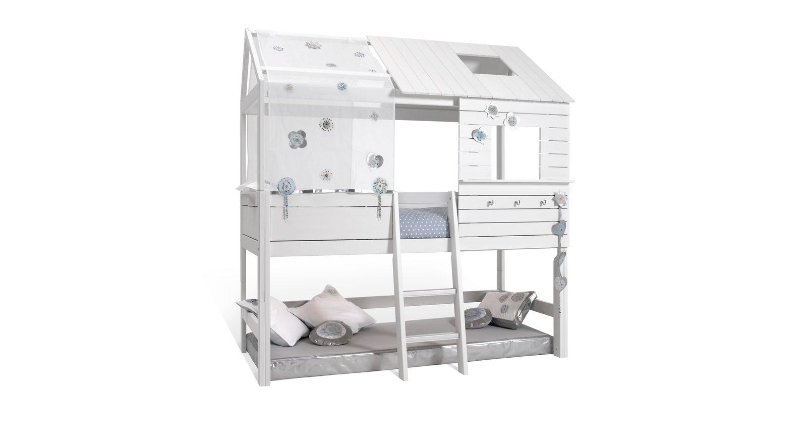 LIFETIME Hütten-Hochbett Sternenglanz optional mit Zubehör