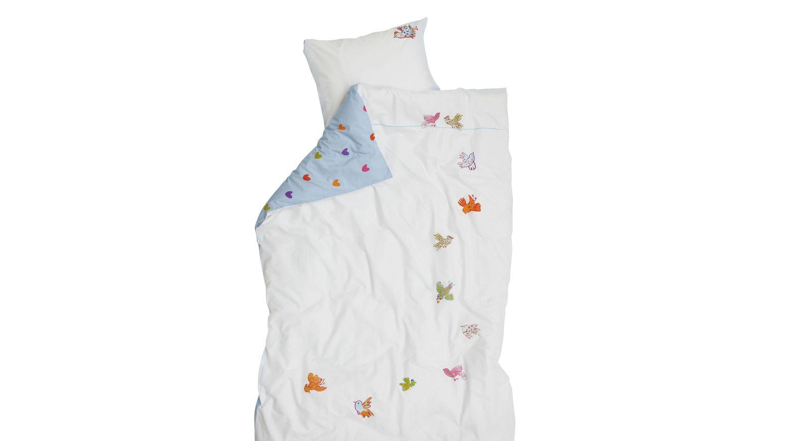 Kinder-Bettwäsche Little Bird von LIFETIME mit frühlingshaftem Motiv