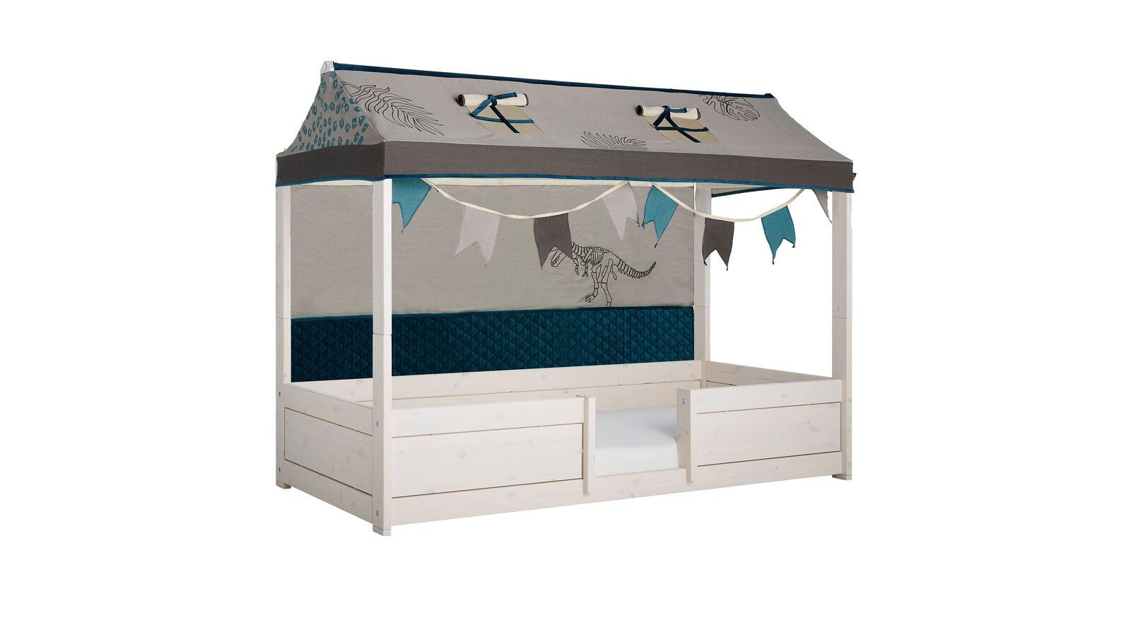 Modernes LIFETIME Kinderbett 4-in-1 Dino mit Absturzsicherung