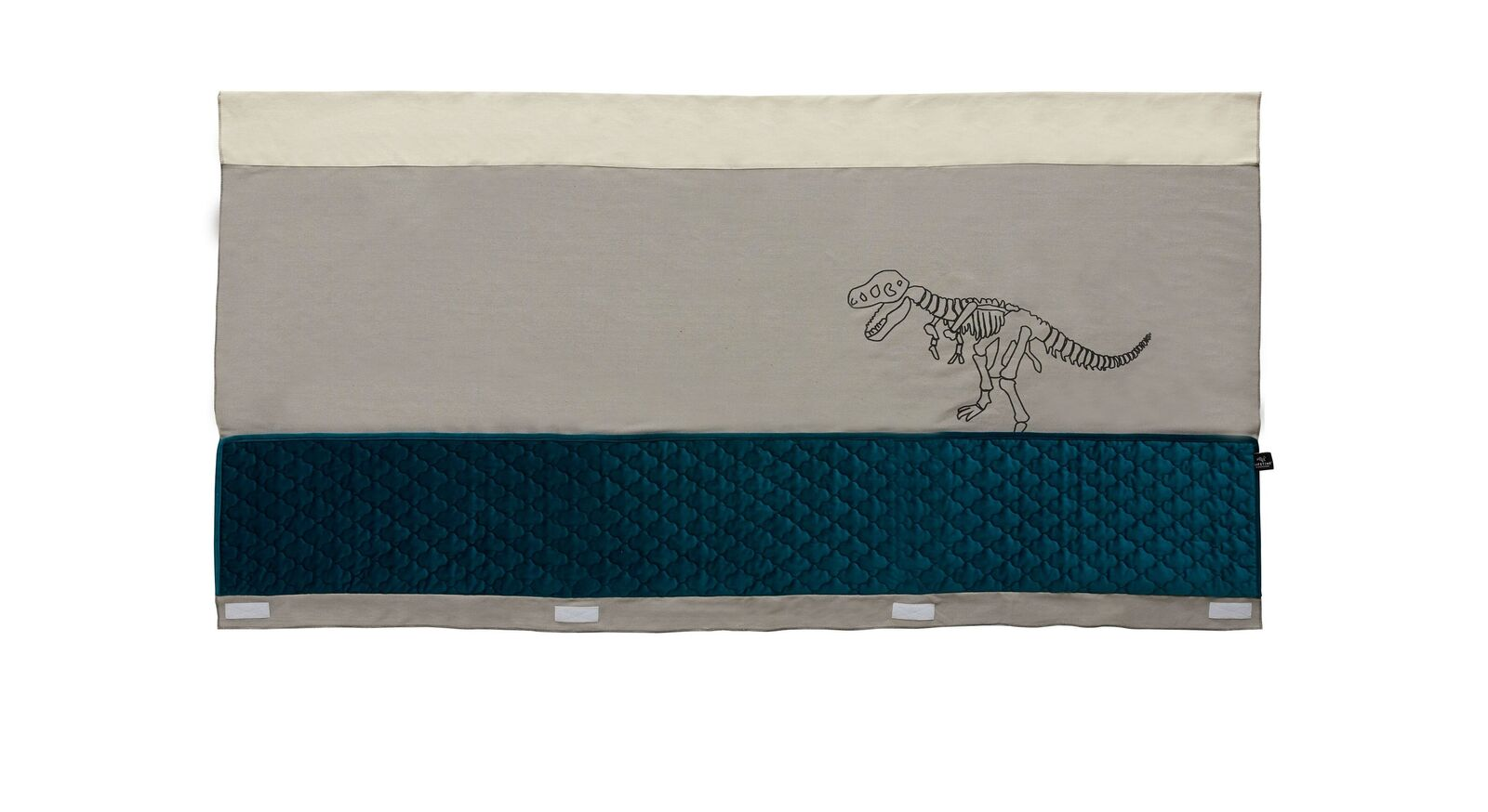 LIFETIME Kinderbett 4-in-1 Dino mit Motiv-Stoffrückwand