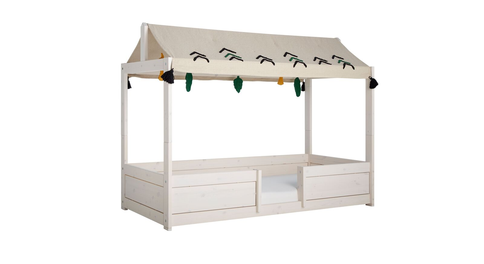LIFETIME Kinderbett 4-in-1 Wild Life aus hellem Holz