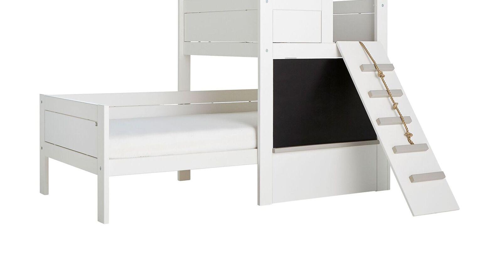 LIFETIME Kinderbett Play Tower mit Spielplanke und Kreidetafel