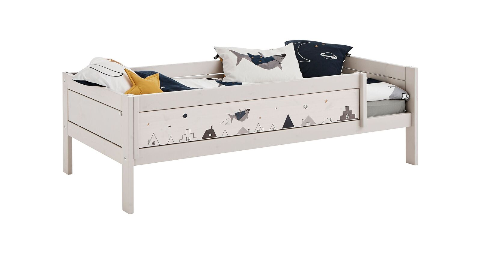 LIFETIME Kinderbett Space Dream in Grau lasiert