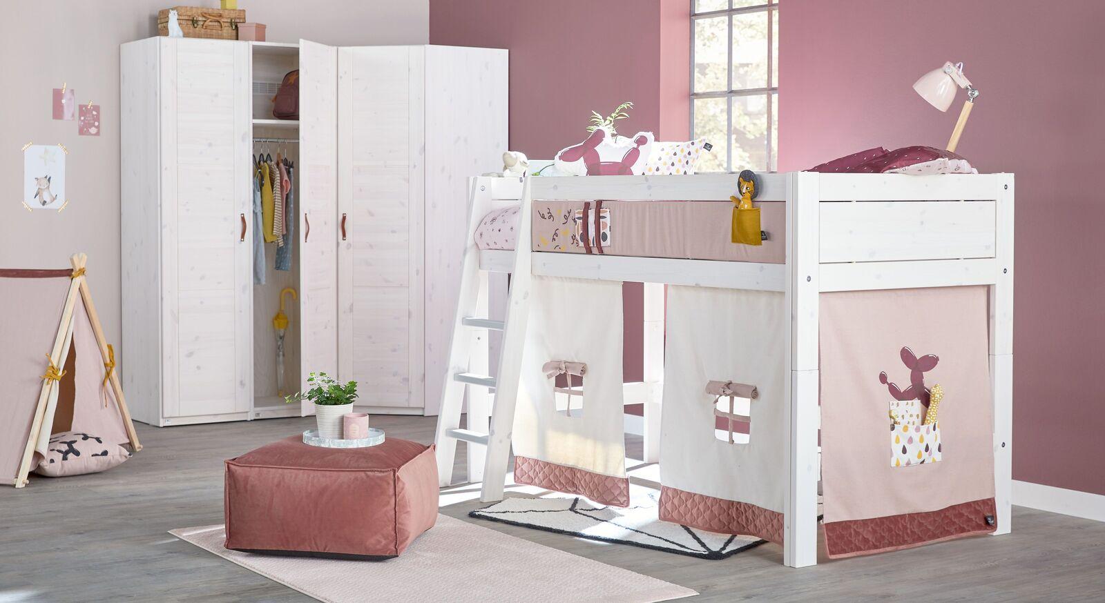 LIFETIME Kinderzimmer Funland rosefarben und weiß