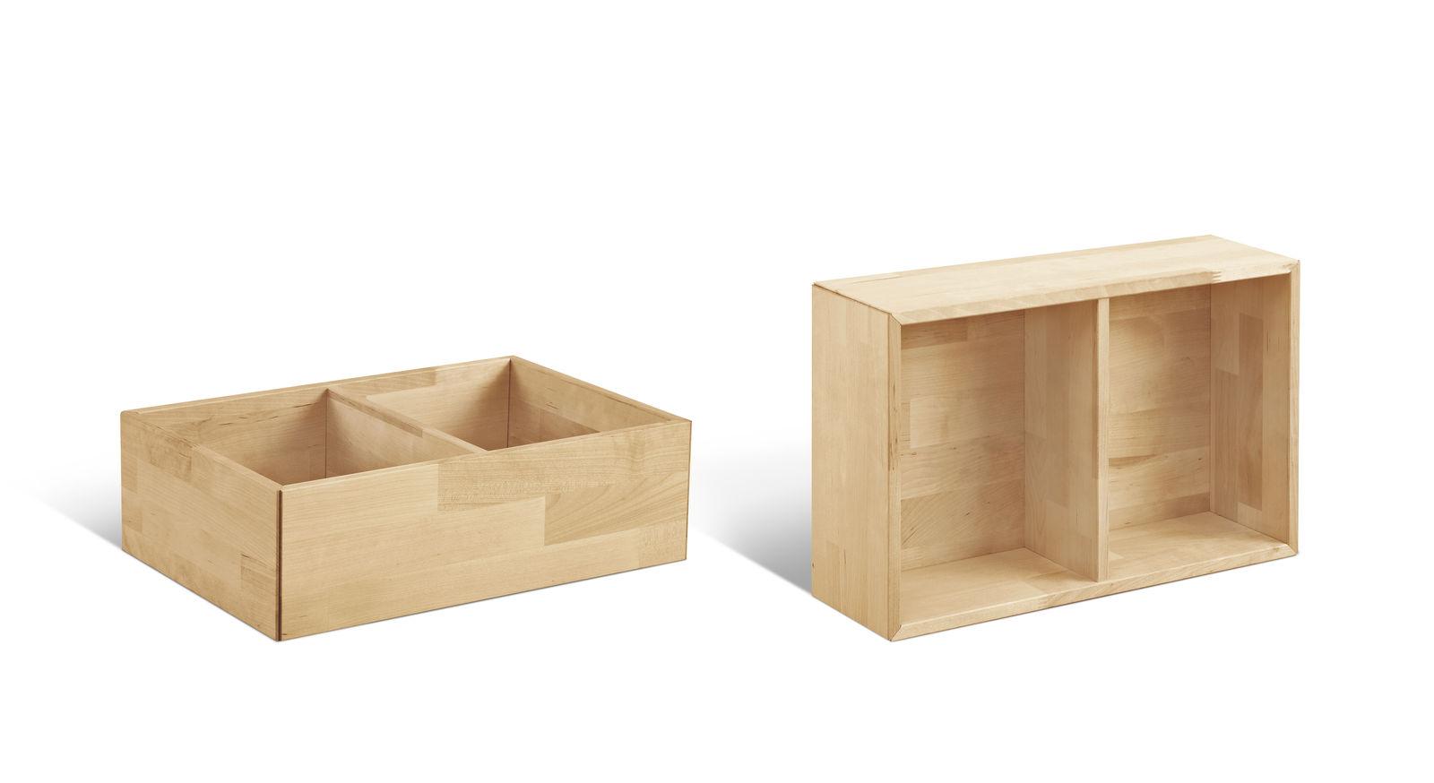 Kiste und Wandregal Monina aus unbehandeltem Birkenholz von LIFETIME