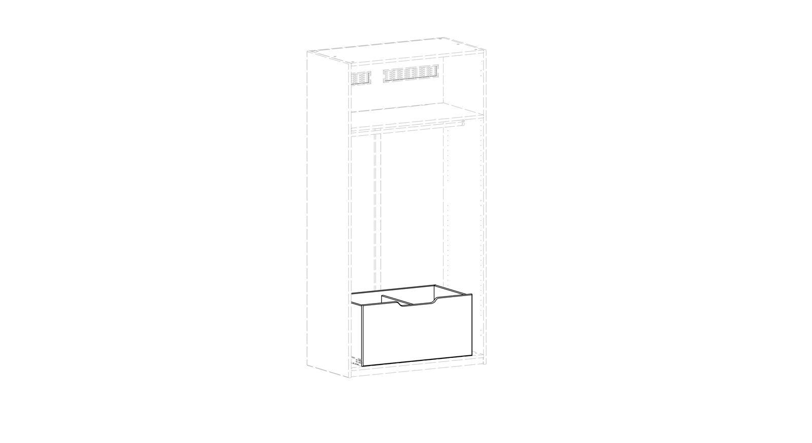 LIFETIME Kleiderschrank-Innenausstattung Grafik für die Breite der Innenschublade
