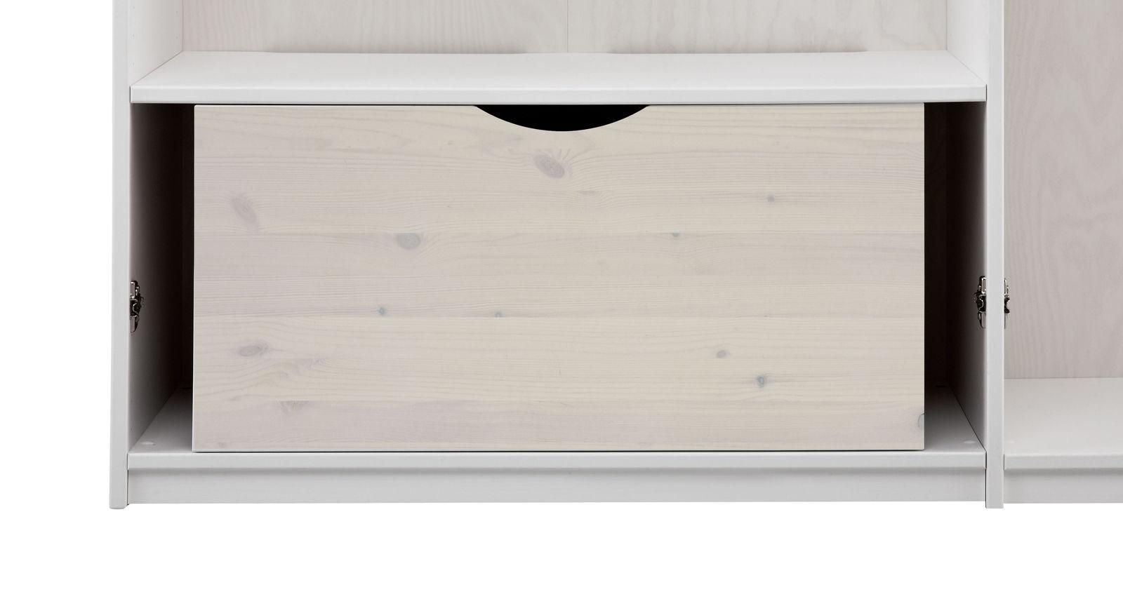 LIFETIME Kleiderschrank-Innenausstattung 100 cm breite Schublade in weiß lasiert